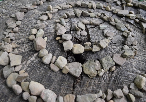 rocks in spiral formation