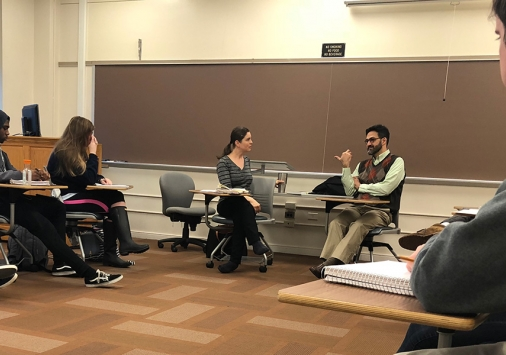 Professor Kambiz GhaneaBassiri, an expert on religion and state in the contemporary politics of Muslims in America, visits Denison.