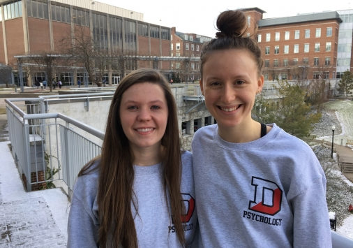 Megan Jamison '18 and Sophie Conlon '18