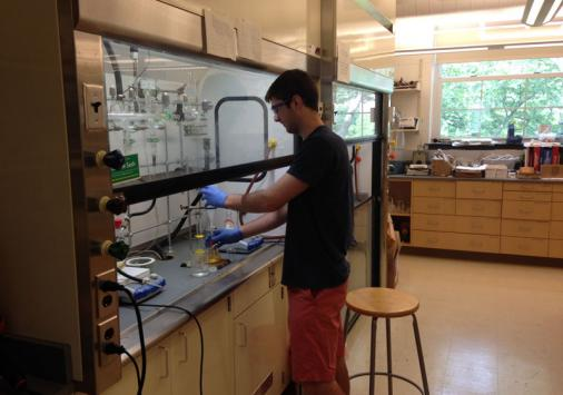 Student 1 working in the lab