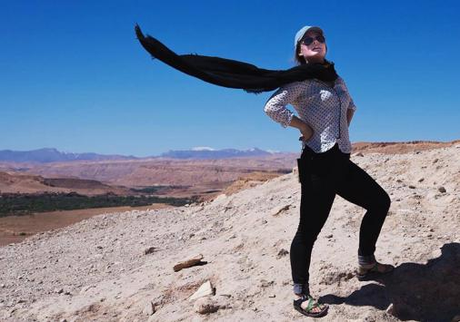 mackenzie ritter '17 in Morocco