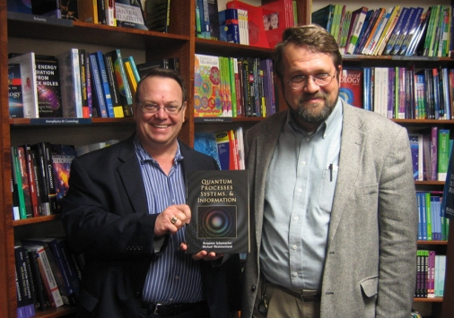 Professors Michael Westmoreland (left) and Benjamin Schumacher (right)