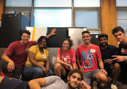 The student-led BOX!t team