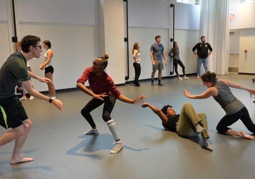 Students in the dance studio