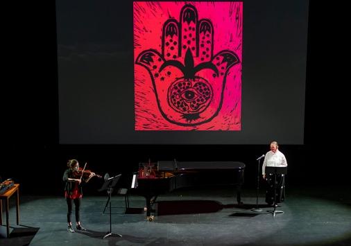 Tejido de Voces rehearsal (photo by Ron Abram)