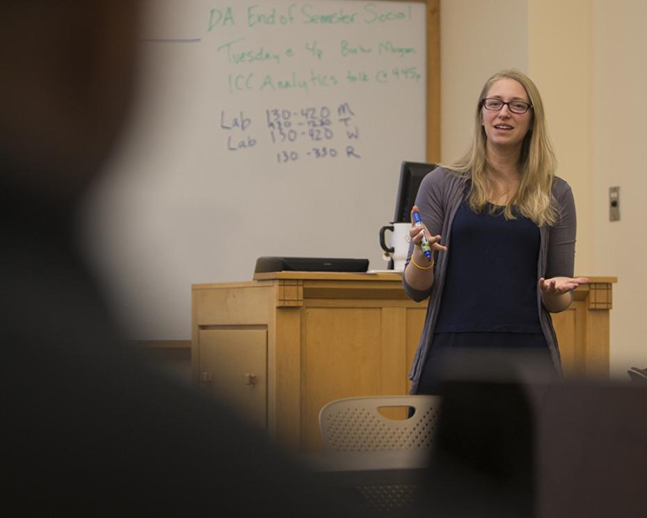 Data Analytics professor Sarah Supp.