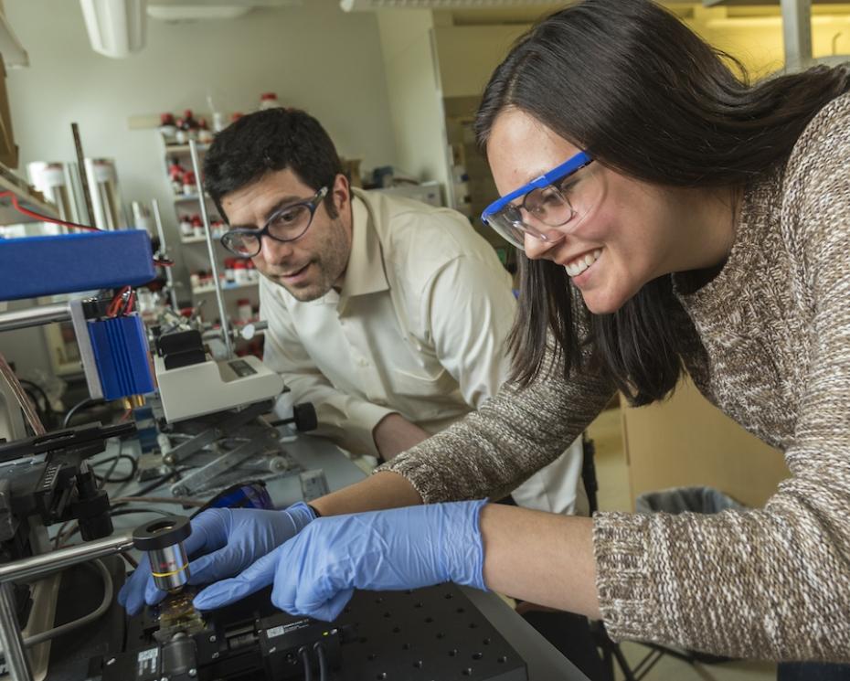 Madeline Van Winkle and Dr. Reczek