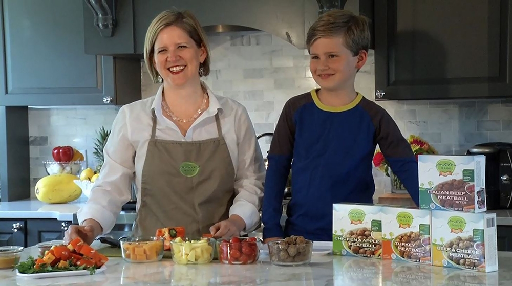 Heather Stouffer '96 and son-Mom Made Foods
