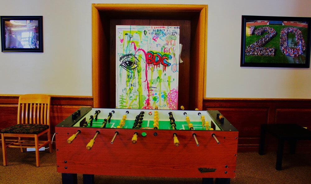 Curtis West Common Room foose ball