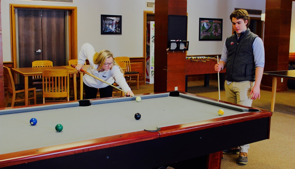 Curtis West Common Room pool table