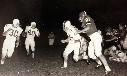 Tony Hall black and white playing college football2