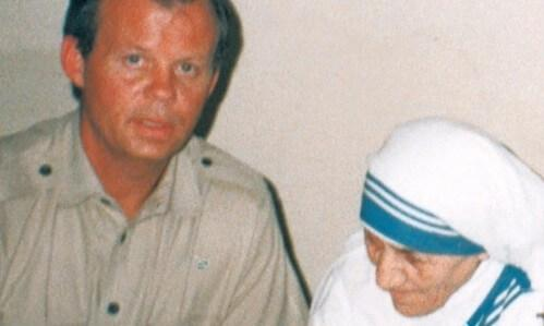 Tony Hall with Mother Teresa