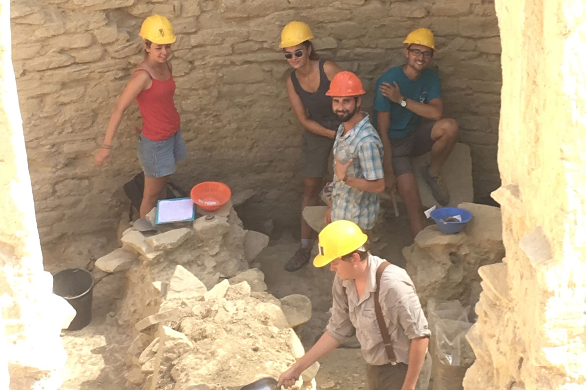 Working in Archaeological site