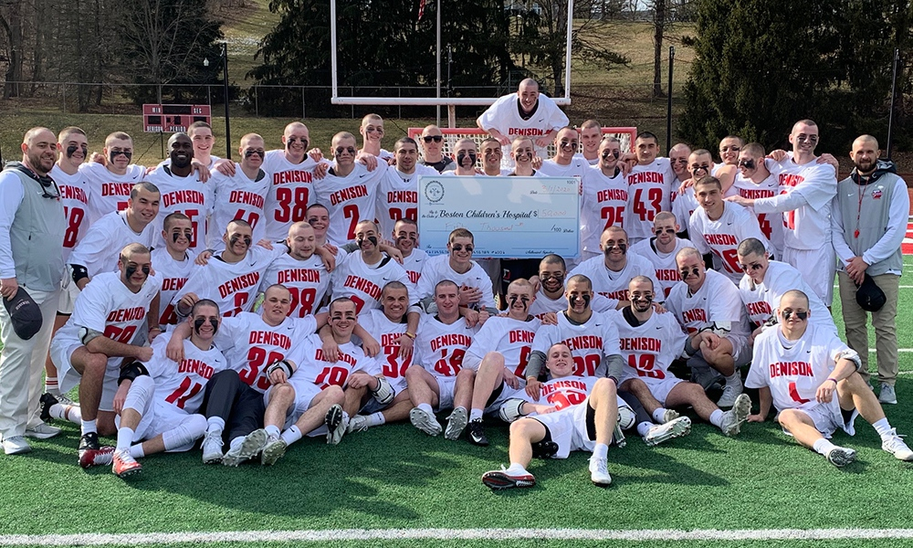 The Big Red (bald) lacrosse team