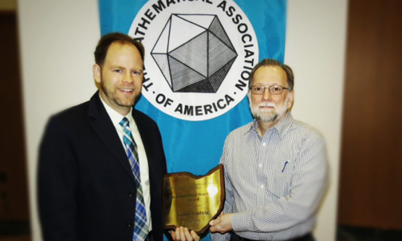 Dr. Ludwig Wins MAA Teaching Award