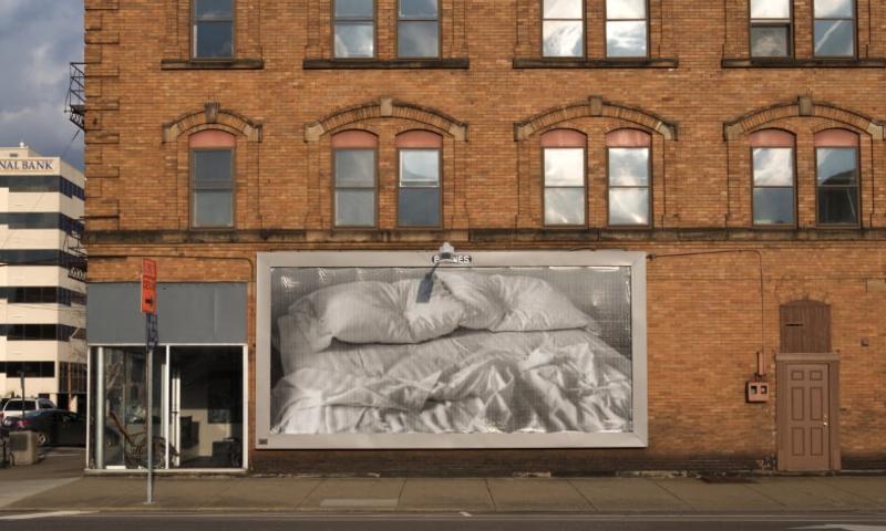 billboard on side of building