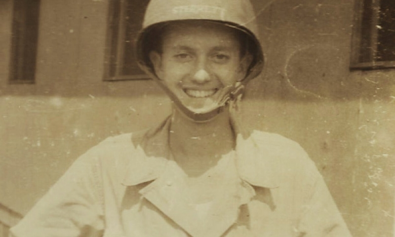 old photo of man in army