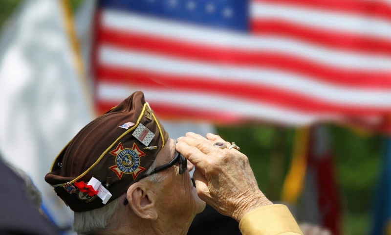 veteran saluting the flag
