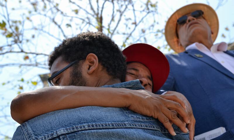 closeup of people huging
