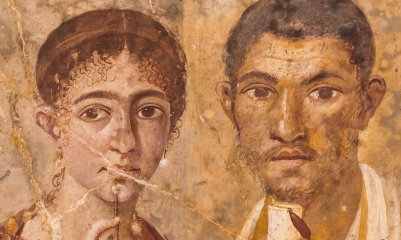 Fresco from Pompeii of Terentius Neo and his wife (c. 50–79 CE)