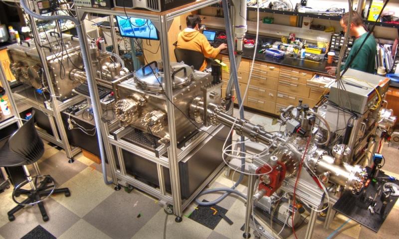 Attosecond beamline end station at OSU