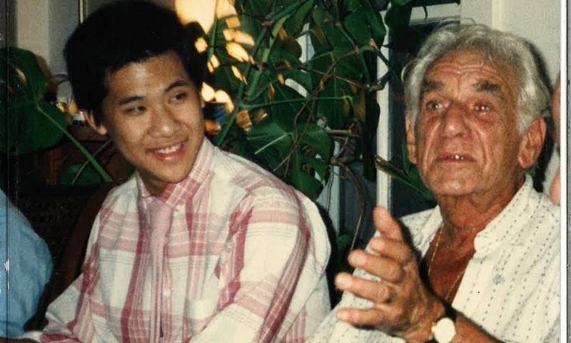 Ching-chu Hu and Leonard Bernstein