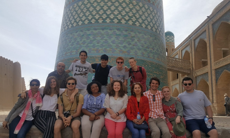 Denison Summer Seminar students in Central Asia