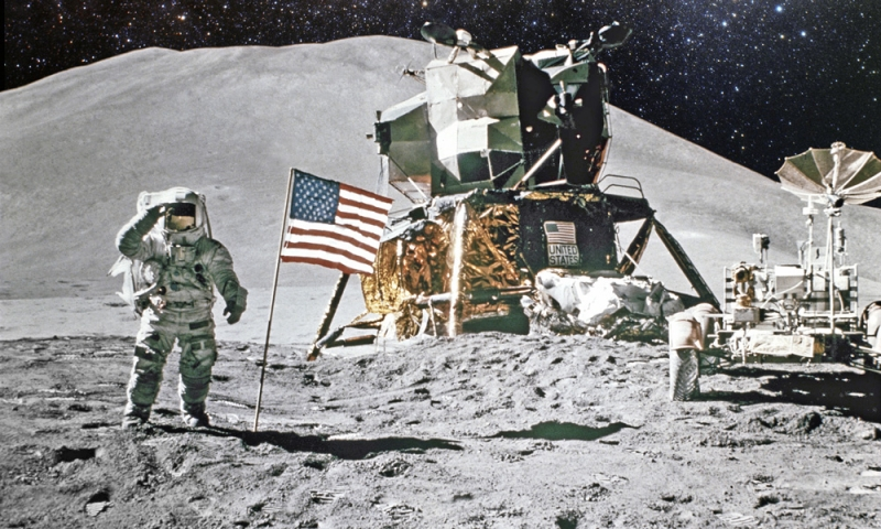 Moon landing photo