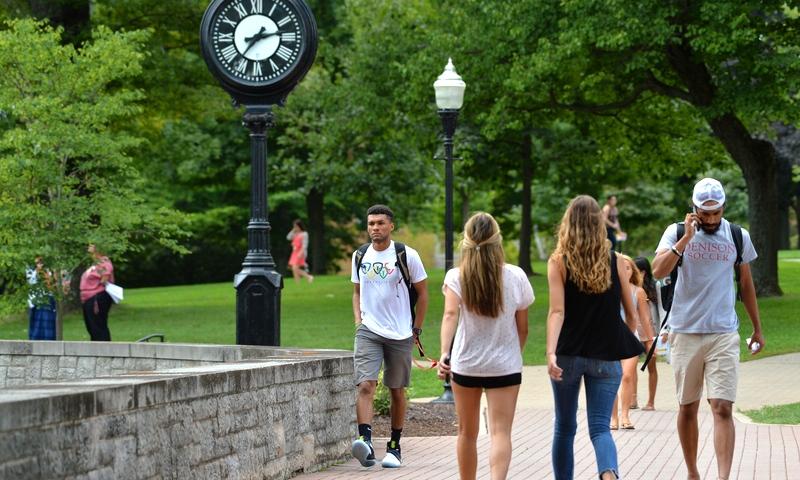 Students at chapel walk