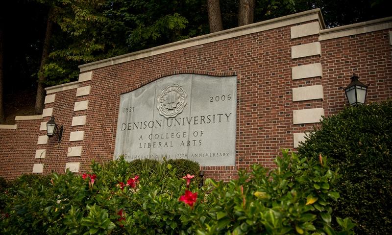 Denison University anniversary stone