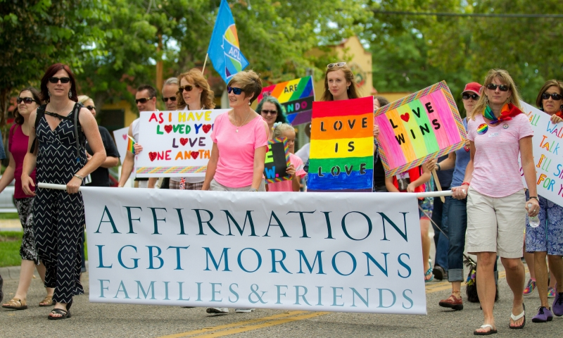 Image depicting peaceful march in support of LGBTQ rights