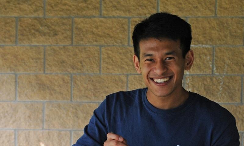 Physics major Rahul Shrestha '21