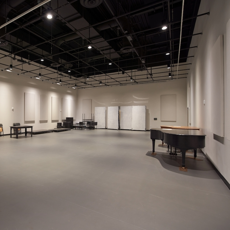 Rehearsal space inside of the Eisner Center for the Performing Arts