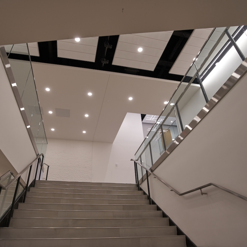 Stairway in the Eisner Center for the Performing Arts