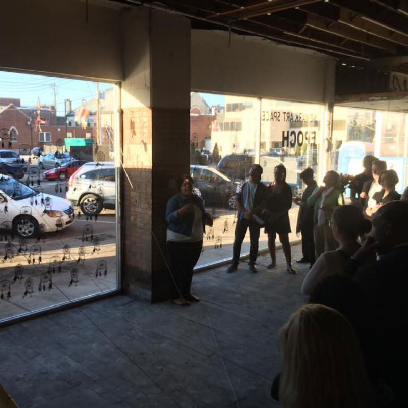 Discussion at the Denison Art Space in Newark
