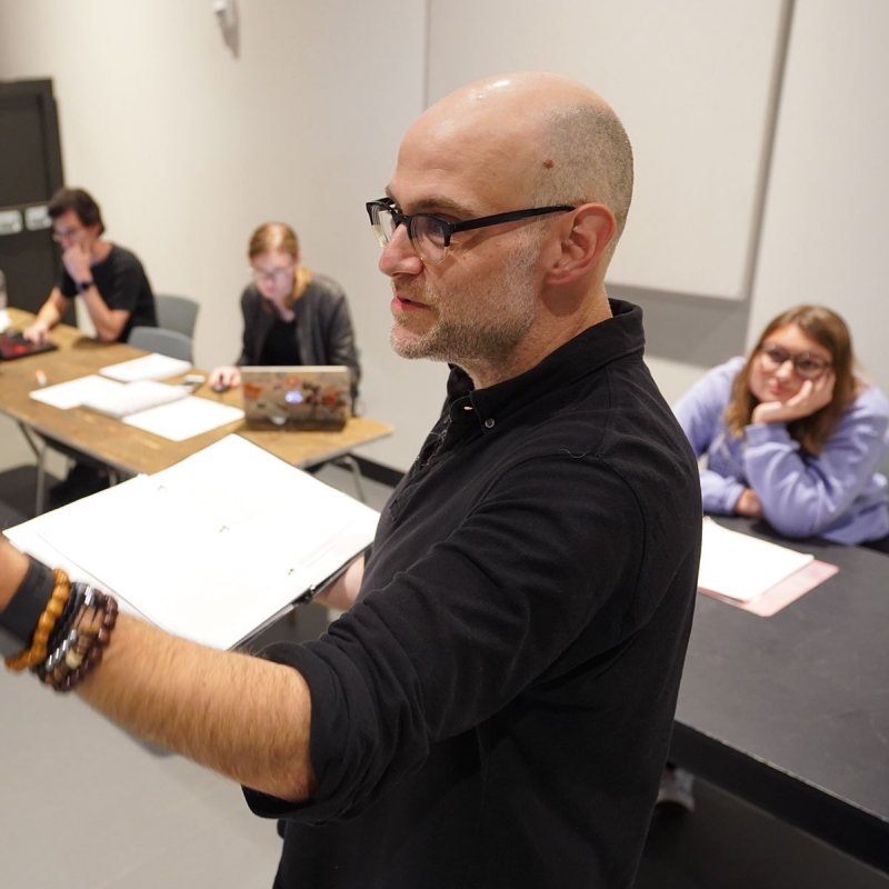 Faculty member teaching