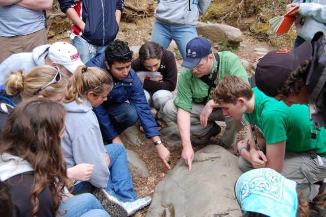 Geoscience in field teaching