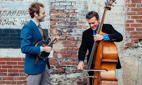 Photo of Chris Thile and Edgar Meyer