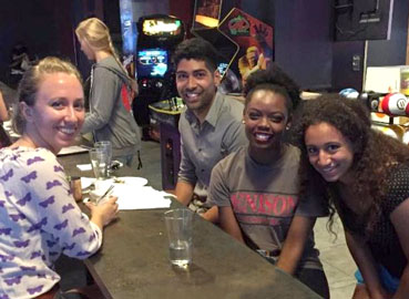 Andrianna Peterson '18 in Cleveland with Denison friends
