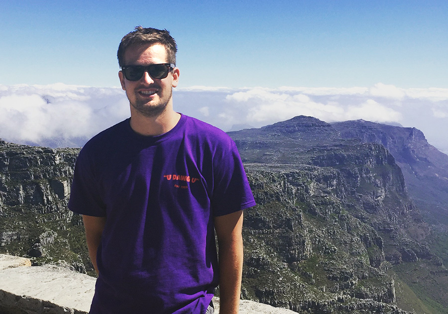 Wehman '17 in South Africa - Table Mountain